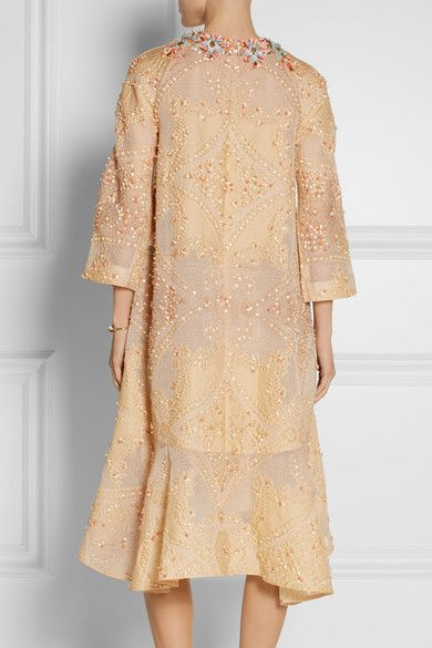 Biyan | Laurie embellished cotton-blend cloqué dress | NET-A-PORTER.COM