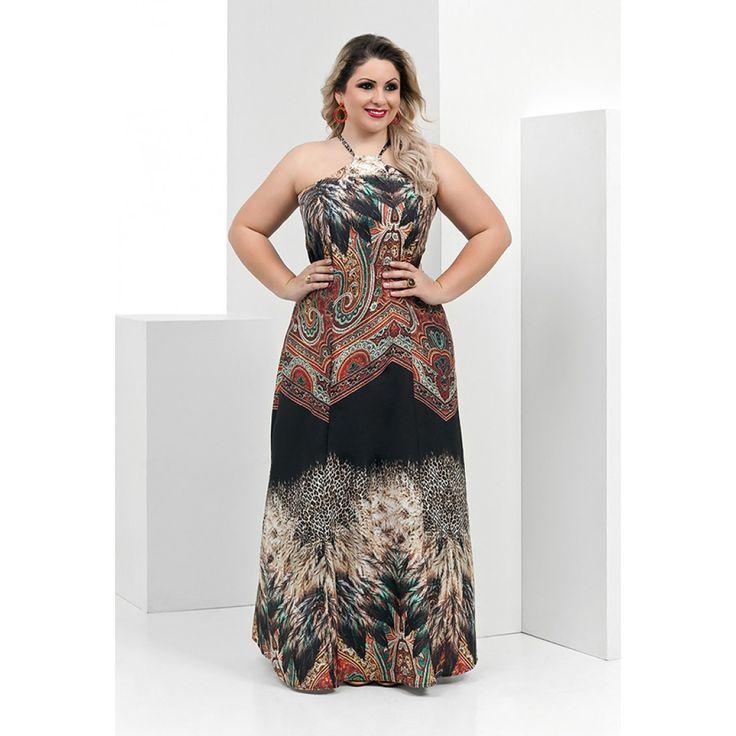 Resultado de imagem para vestido longo com bojo plus size
