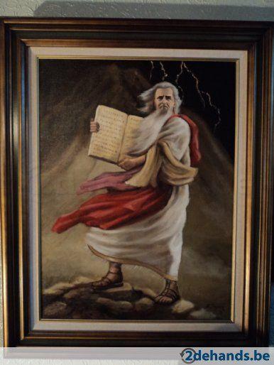 Schilderij Mozes met de tien geboden
