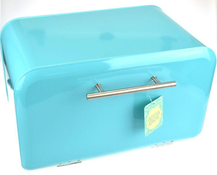 NEW ANNA GARE RETRO BREAD BIN Breadbin Box Container Storage RED OR BLUE