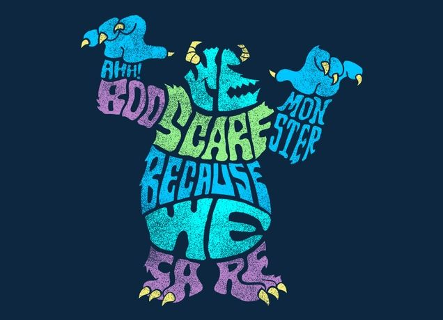 """""""We Scare Because We Care"""" - Threadless.com - Best t-shirts in the world"""