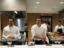 Quique Dacosta and Eneko Atxa in kitchen