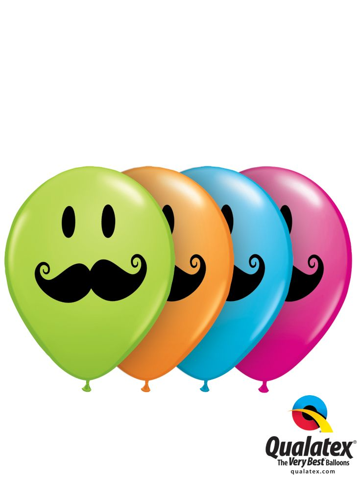 Which color would you like your Mustache? Qualatex has them all! These latex balloons are a great start for your trendy, whimsy design to celebrate November. #movember #mustache #moustache #balloon