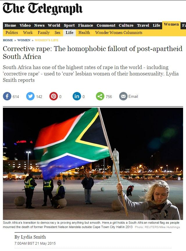 British paper mangles South African rape statistics An article about rape in South Africa published online by the British Telegraph newspaper was peppered with statistics. Closer investigation by Africa Check reveals that most of them are not backed up by research.  http://www.thesouthafrican.com/british-paper-mangles-south-african-rape-statistics/