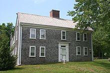 Vintage Colonial: The Josiah Dennis House, a Georgian Colonial with shingle siding.  Dennis, Massachusetts, Circa 1735. Photo Credit: Thomas Kelley