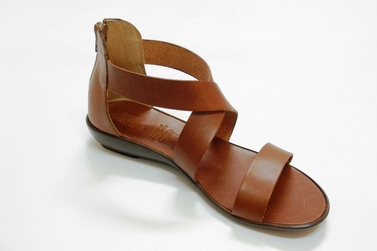 Brown Leather Sandals. $54.00, via Etsy.
