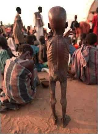 africa, famine and poverty. my heart is broken for this child today.