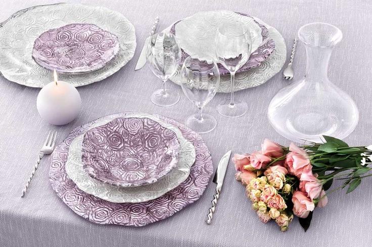 Servizio Piatti Roseto di IVV | Anno: 2011 | Materiali: Vetro | #design #glamour