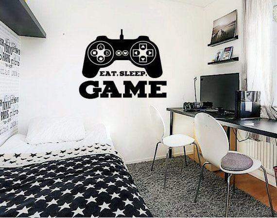 Controller Video Games Wall Vinyl Sticker Gamer Decals Mural Room Design Pattern Art Bedroom xbox bo1974 –  – #GamerRoom|DIY