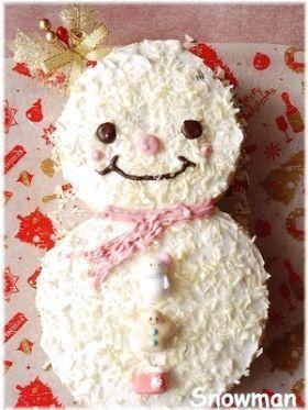 「スノーマンケーキ」いたるんるん | お菓子・パンのレシピや作り方【corecle*コレクル】