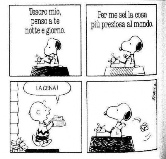 Snoopy e la cena