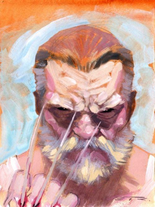 "failed-mad-scientist: ""Old Man Logan - Esad Ribic """