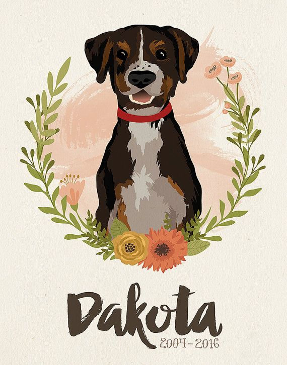 This listing is for a custom-illustrated pet portrait that is drawn digitally…