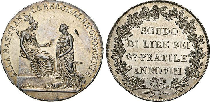 NumisBids: Numismatica Varesi s.a.s. Auction 65, Lot 442 : MILANO - REPUBBLICA CISALPINA (1800-1802) Scudo da 6 Lire A. VIII...