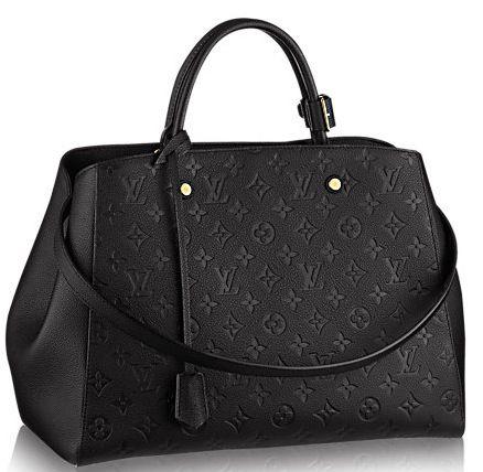 Louis Vuitton Empreint Montaigne GM Black #joy