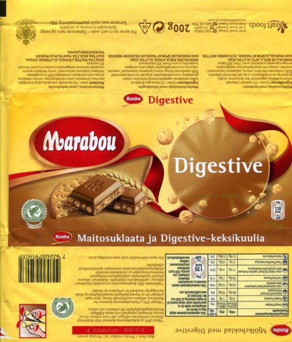 Marabou Digestive, milk chocolate with cookies, 200g, 31.10.2011, Kraft Foods Sverige, Angered, Sweden