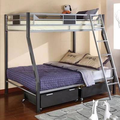 Viv Rae Lesa L Shaped Bunk Bed With Desk Wayfair Bed Cool Bunk Beds Full Size Bunk Beds Bunk Beds