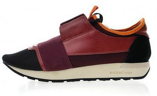 new style 33515 42b97 Balenciaga Race Runner Low Top Sneakers Red Wood Black Q02533958    Balenciaga   Nike shoes mens casual、Nike shoes 和Balenciaga