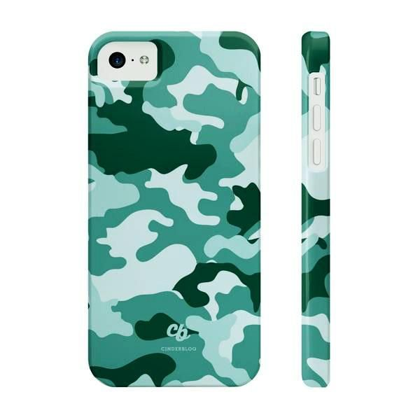 Teal Camo Phone Case