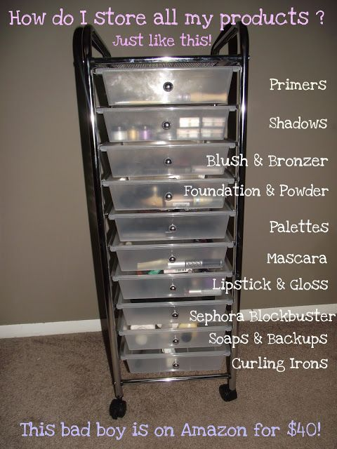 Makeup Storage! Cheap and easy!