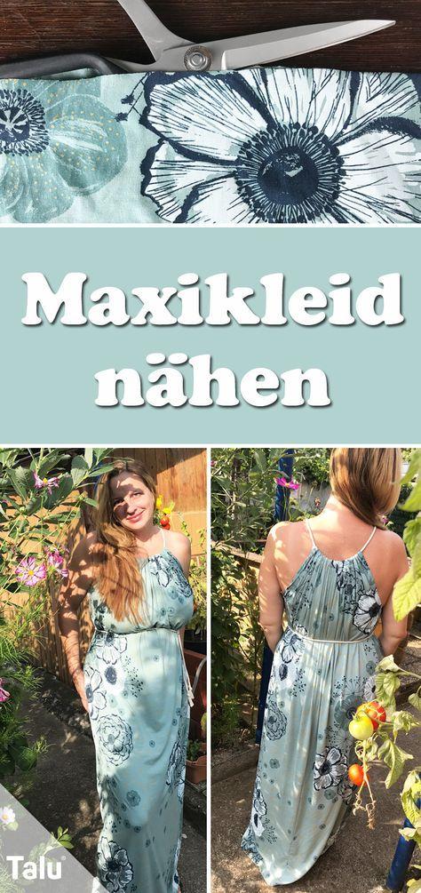 Maxikleid nähen – Anleitungen ohne Schnittmuster