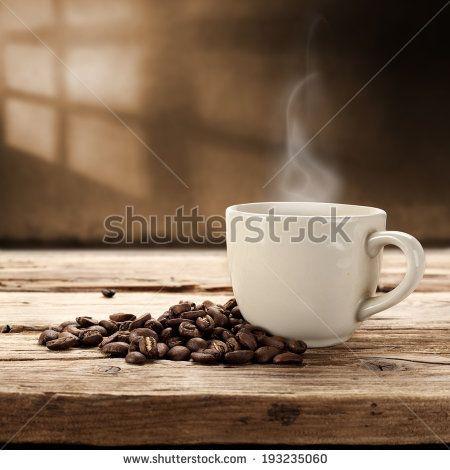 fresh coffee and window mark