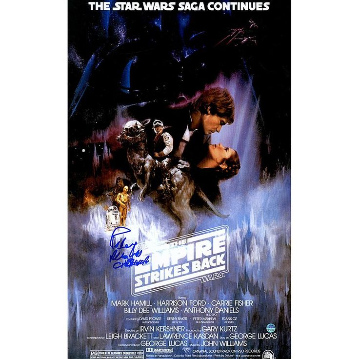 "Peter Mayhew Signed ""Chewbacca"" Star Wars Episode V: The Empire Strikes Back 11"" x 17"" Movie Poster"