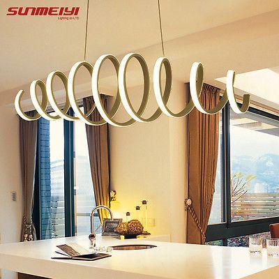 led lmpara colgante para cocina comedor blanco suspensin de techo