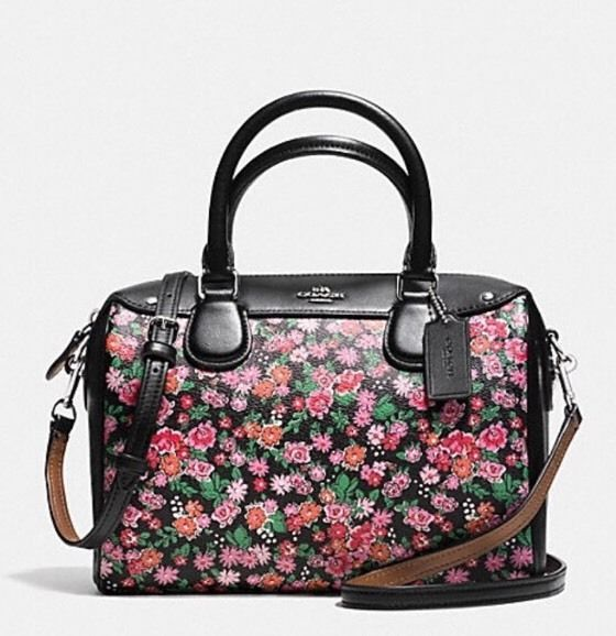 NWT Coach Mini Bennett Satchel Posey Cluster Floral Print Canvas Pink $295 New ! #Coach #Satchel