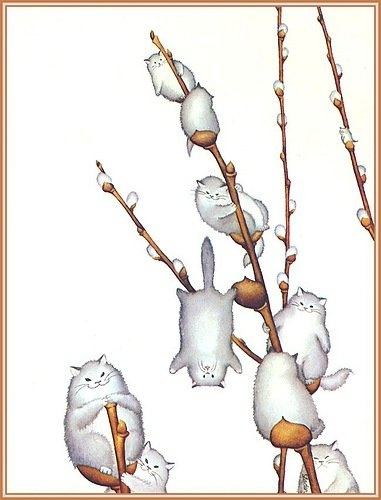 Pussy willow cats: Cat Art, The Doors, Pussy Willow, Catart, Cat Illustrations, A Tattoo, Pussywillow, Cat Trees, Spring