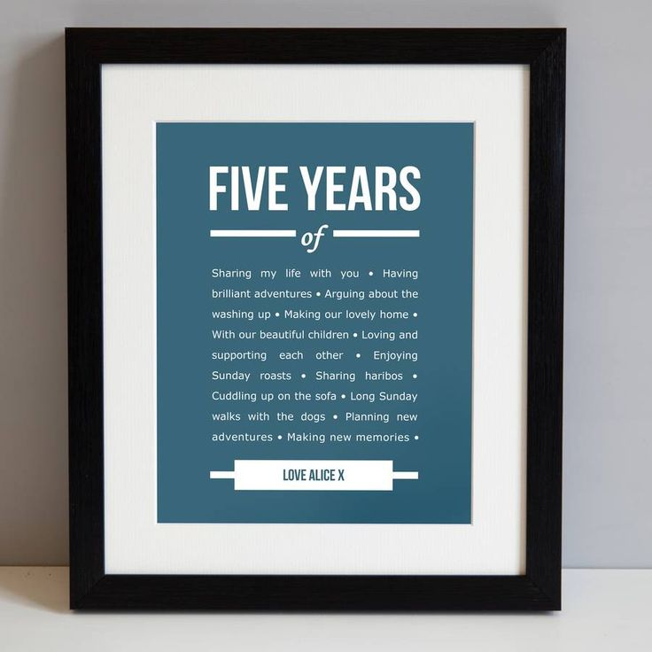 25 best ideas about five year anniversary on pinterest for 5 anniversary gift ideas