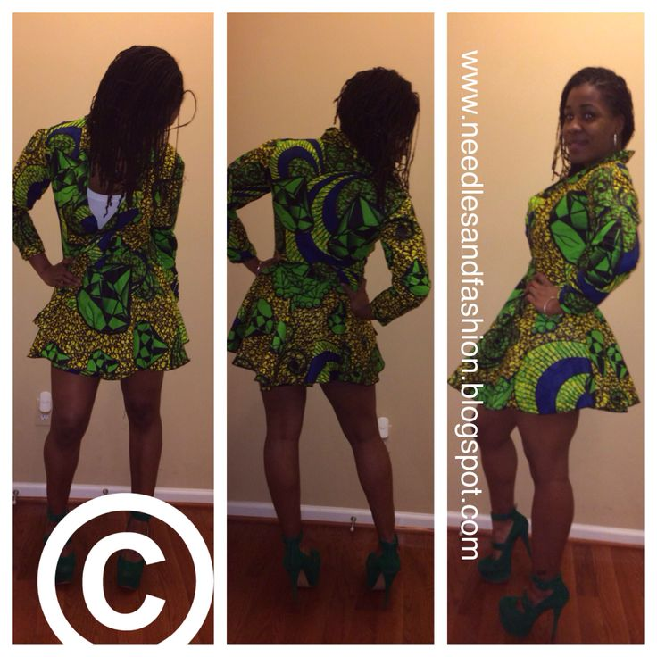 Dresses sewn with african prints fashion