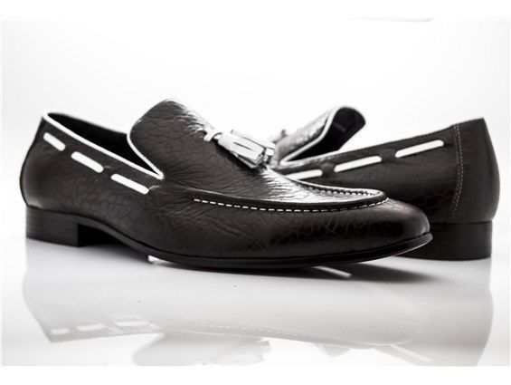 7cccbaa0d7e Details about Handmade Men Black leather slip ons loafer shoes