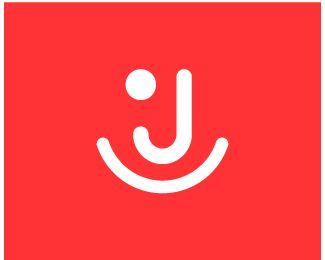 joy Logo design - stylized happy people face with initial letter J , it can be used on Travel Agency , event , joy , design , creative  Price $249.00