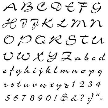 Airfoil Script Stencil