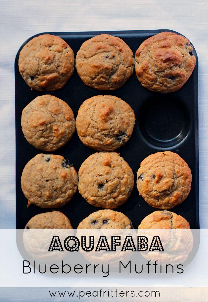 Aquafaba Blueberry Muffins