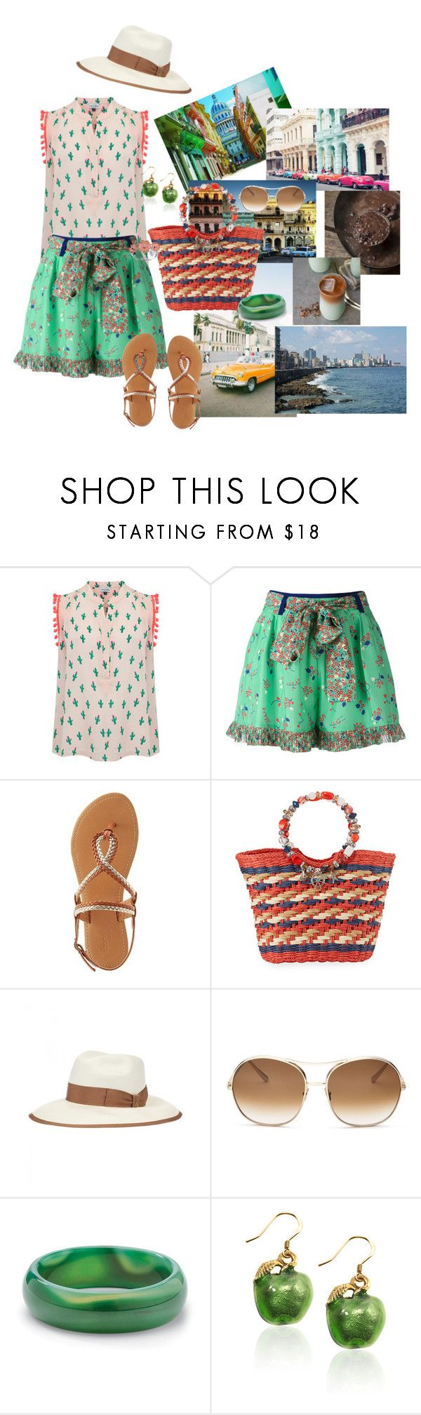 """""""havana"""" by marlenewelke ❤ liked on Polyvore featuring Mercy Delta, Manoush, Charlotte Russe, Cappelli Straworld, Gucci, Chloé, Palm Beach Jewelry and Miadora"""