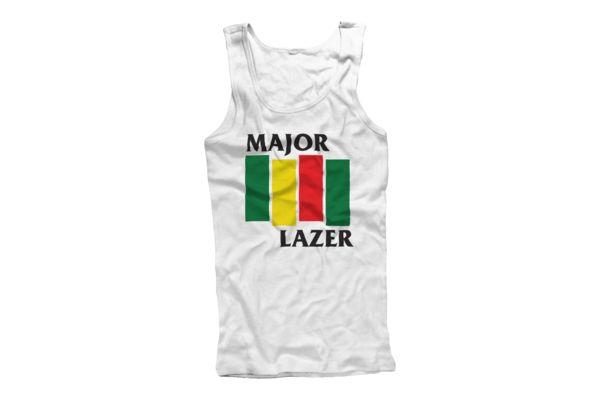 Black Flag (White) Tank Top | Major Lazer | Online Store, Apparel, Merchandise & More