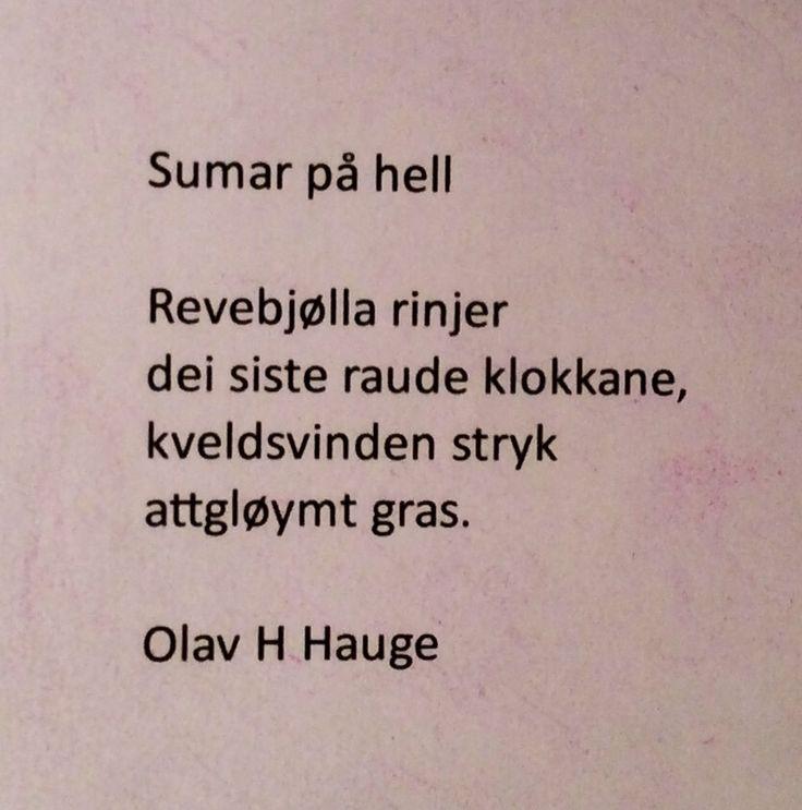 Sumar på hell - Olav H. Hauge