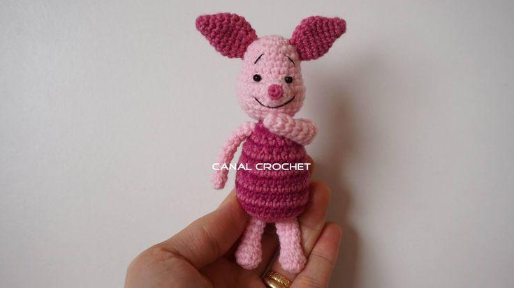 https://www.facebook.com/Canal-crochet-1166416096719575/ Patrón escrito: http://amigurumilacion.blogspot.com.es/2016/04/piglet-amigurumi-tutorial.html