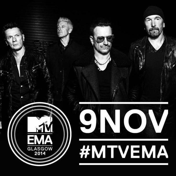 Absolutna legenda. Jeden z najlepszych zespołów rockowych w historii muzyki… U2 zagrają na #MTVEMA.