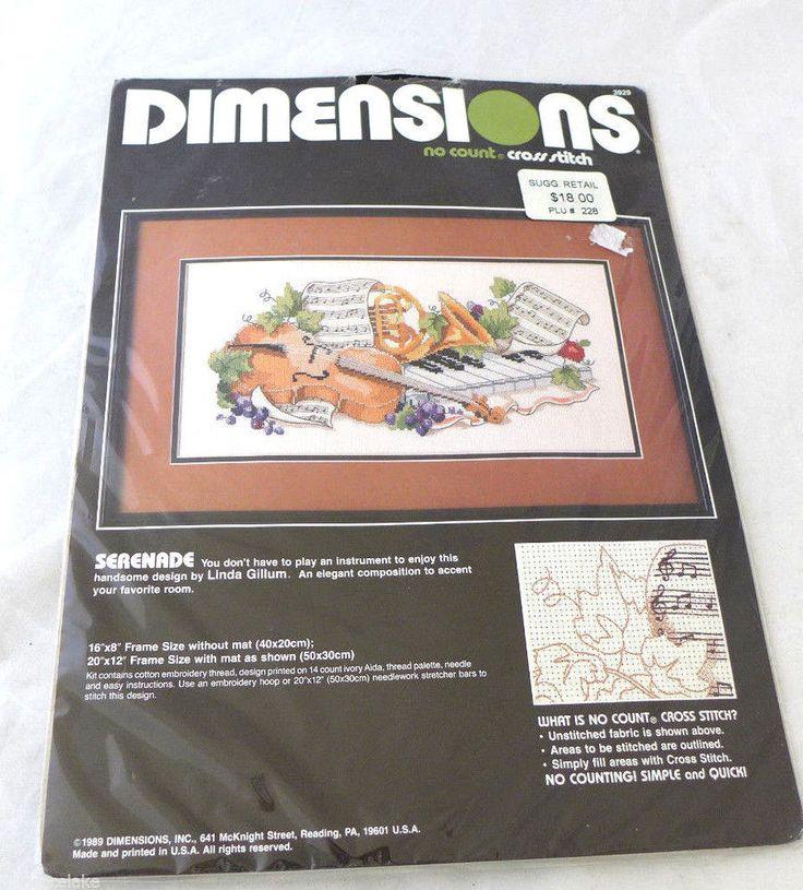 Dimensions Cross Stitch Kit Serenade Instruments Music NIP 1989 | Crafts, Needlecrafts & Yarn, Embroidery & Cross Stitch | eBay!