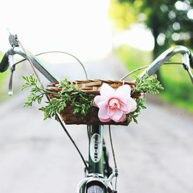 Learn how to make your own floral bike basket.