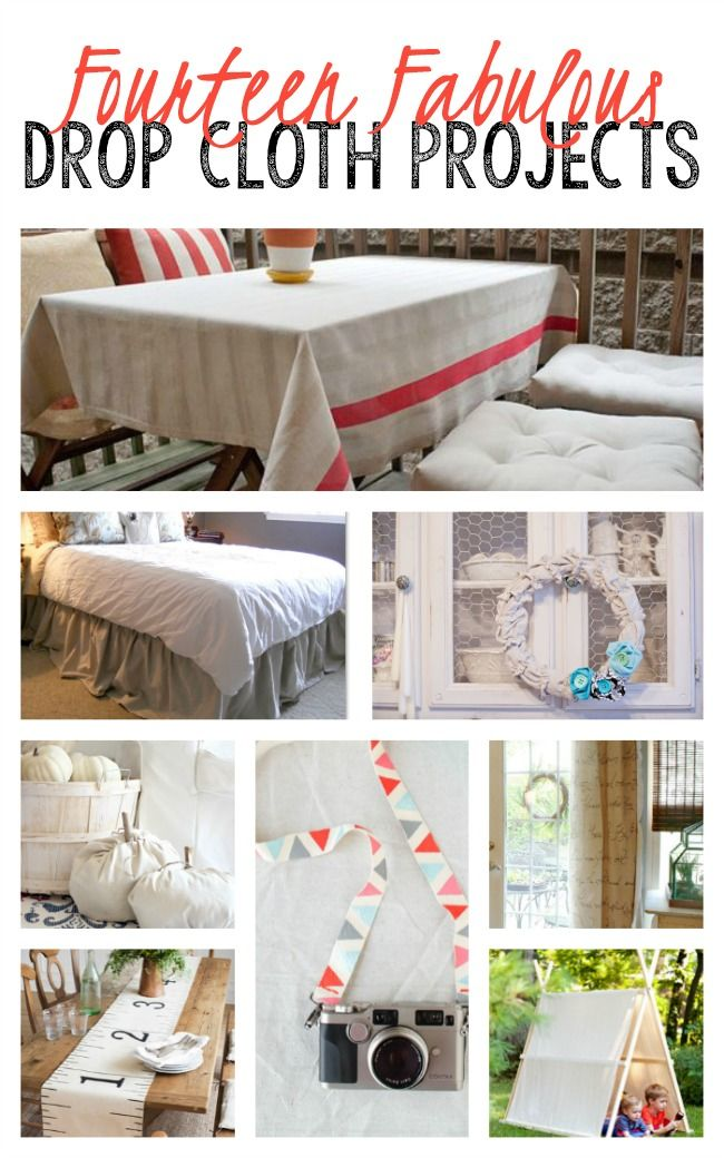 14 Fabulous DIY Drop Cloth Projects