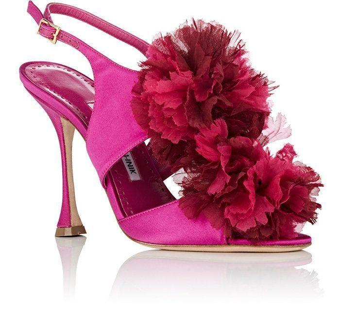 Manolo Blahnik Flore Satin Sandals | Barneys New York #manoloblahnikheelsstilettos #manoloblahnikheelsproducts