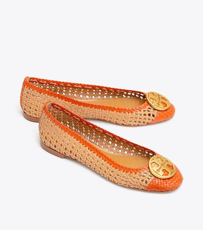 86665c73d817 Tory Burch CHELSEA WOVEN CAP-TOE BALLET FLAT in 2019 | shoes ...