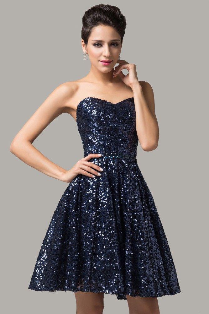 Dark blue cocktail dress, 32-42