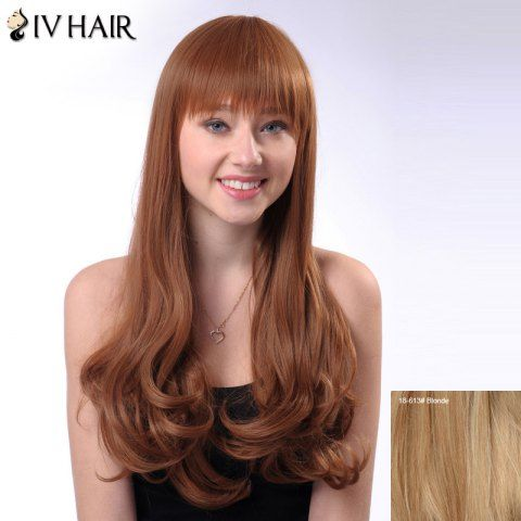 GET $50 NOW | Join RoseGal: Get YOUR $50 NOW!http://www.rosegal.com/human-hair-wigs/long-neat-bang-shaggy-wavy-936615.html?seid=2275071rg936615