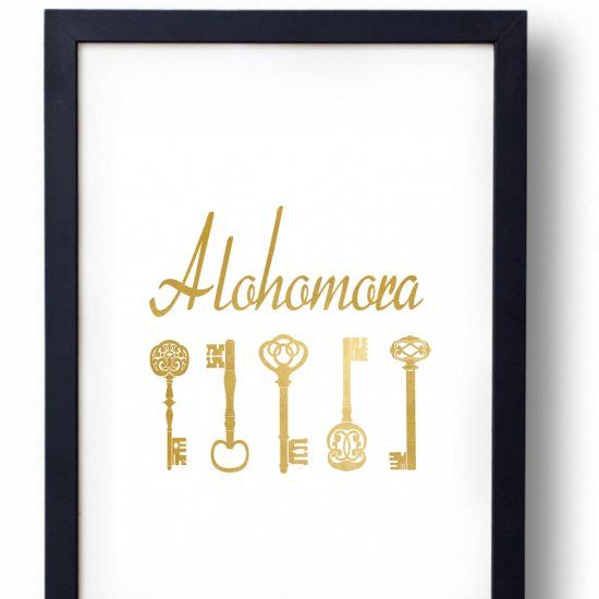 Download this free printable this week plus check out my alohomora key rack.