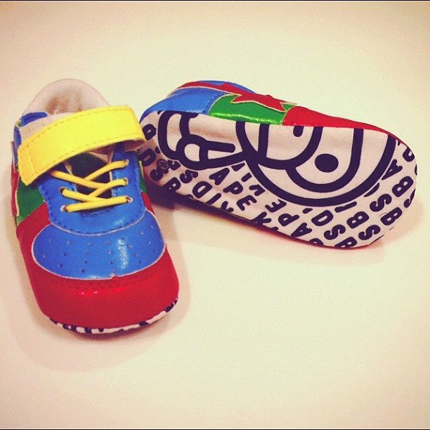 SPOTTED the cutest baby shoes at the new BAPE Kids store!